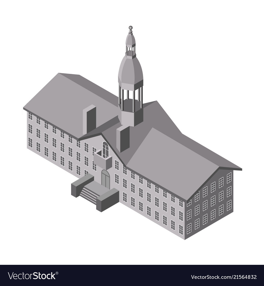 Isometric church icon