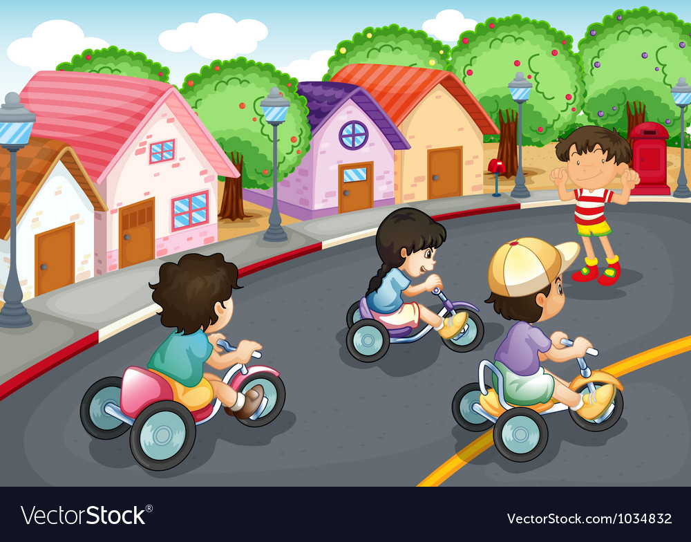 Kids playing on the road