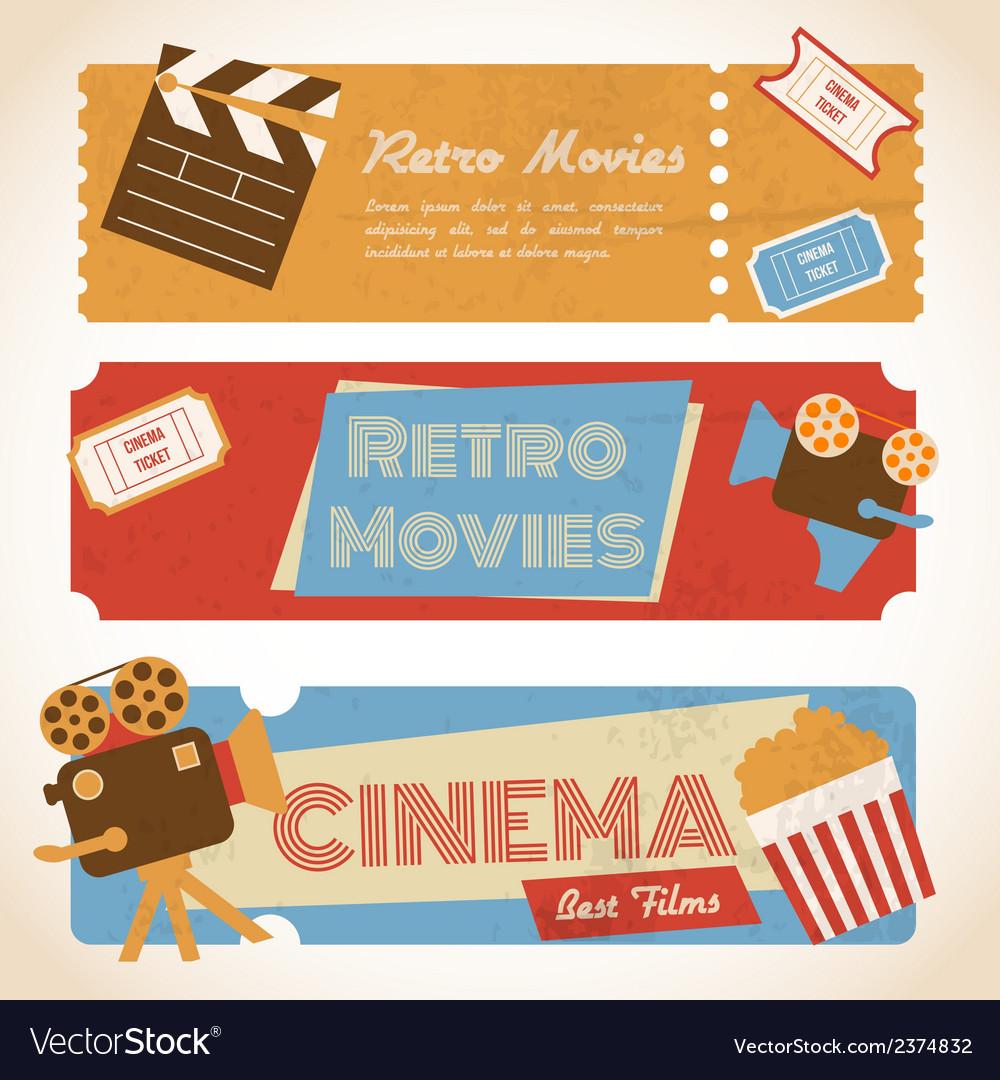 Retro movie banners