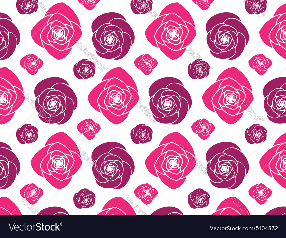 Scalable Pink Peony Flower Pattern vector image