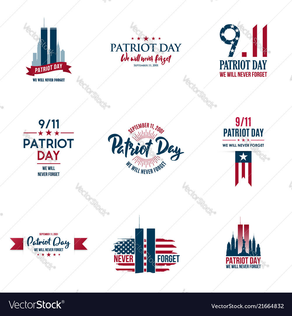 Set of various patriot day graphics cards
