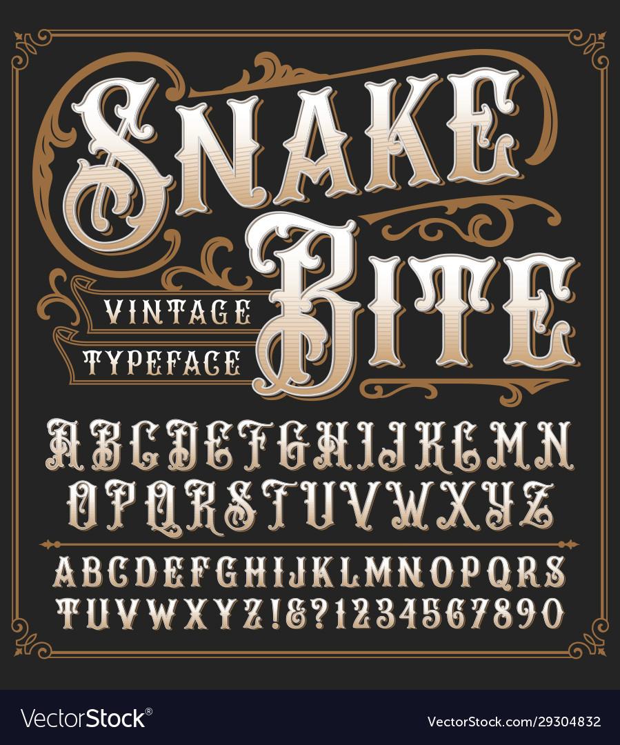 Snake bite a vintage decorative typeface