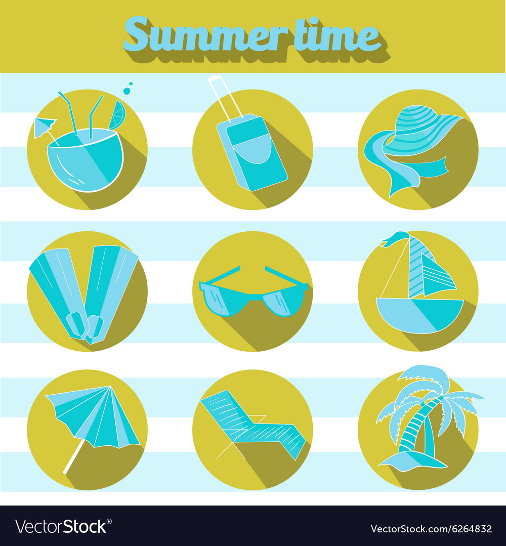 Summer beach travel logo icon