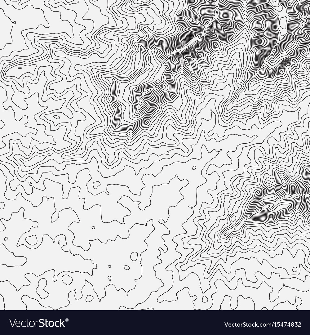 Topographic map background concept with space for