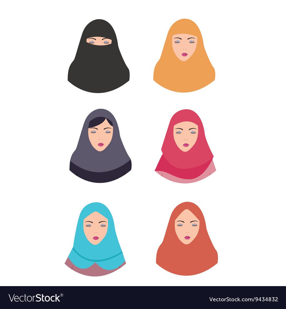 Woman wear hijab veil islam tradition islamic