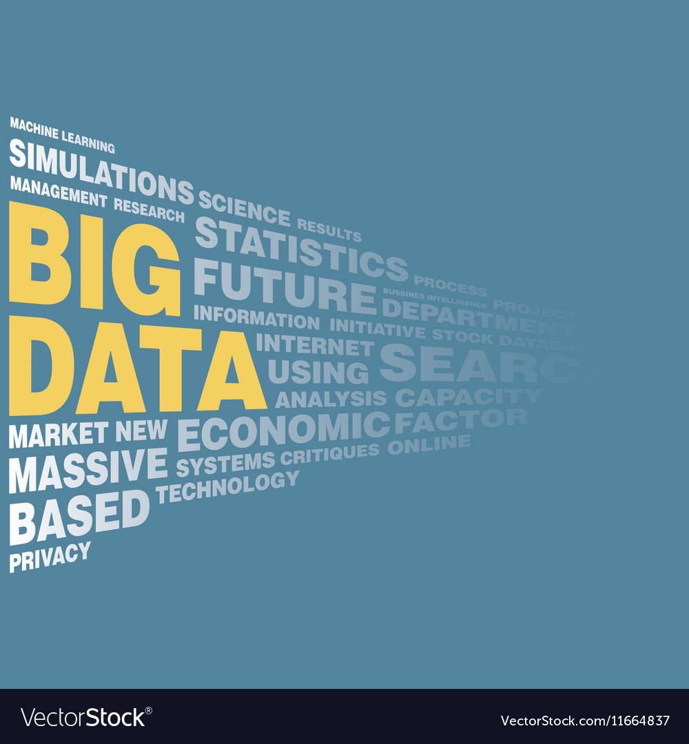 Big data concept word tag