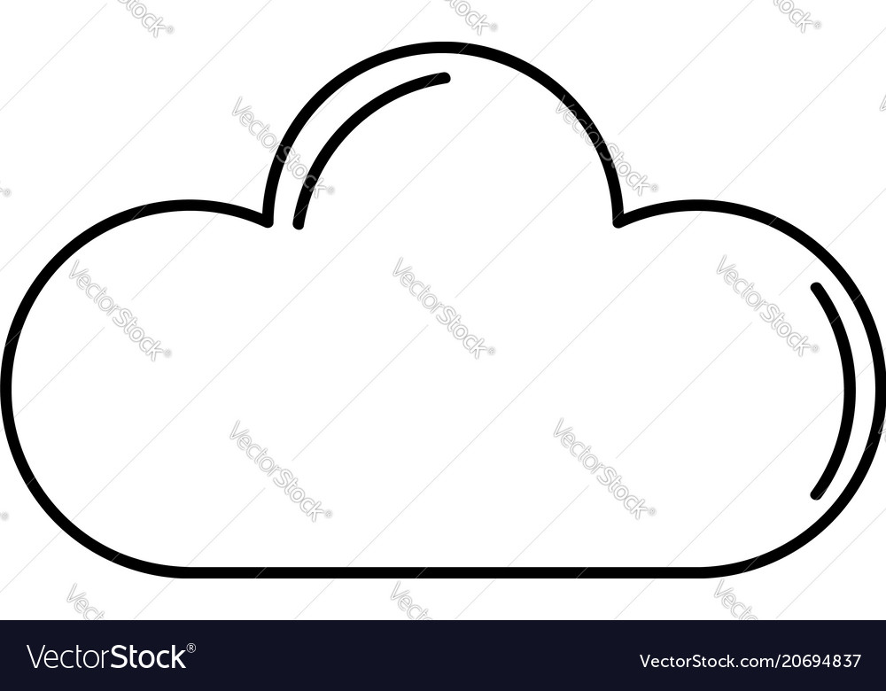 Cloud outline icon royalty free vector image vectorstock cloud outline icon vector image voltagebd Choice Image