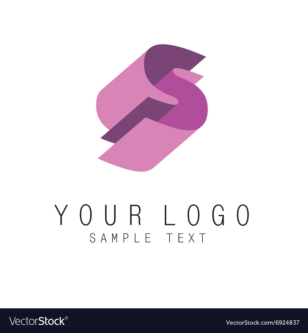Letter E geometric colorful ribbons style logo Vector Image