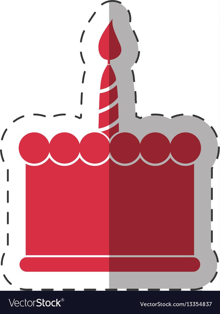 Red birthday cake sweet