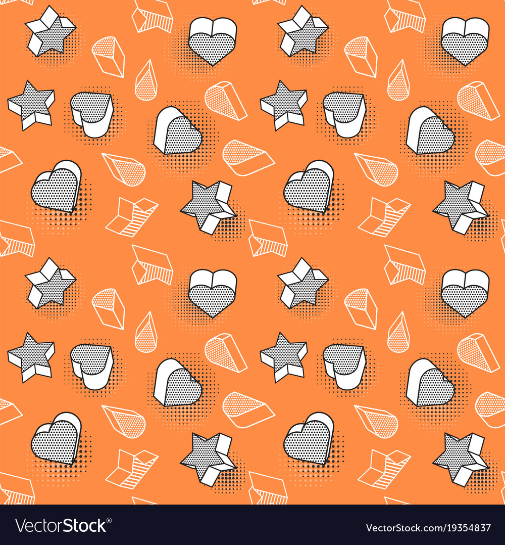 Seamless pattern colorful pattern with 3d