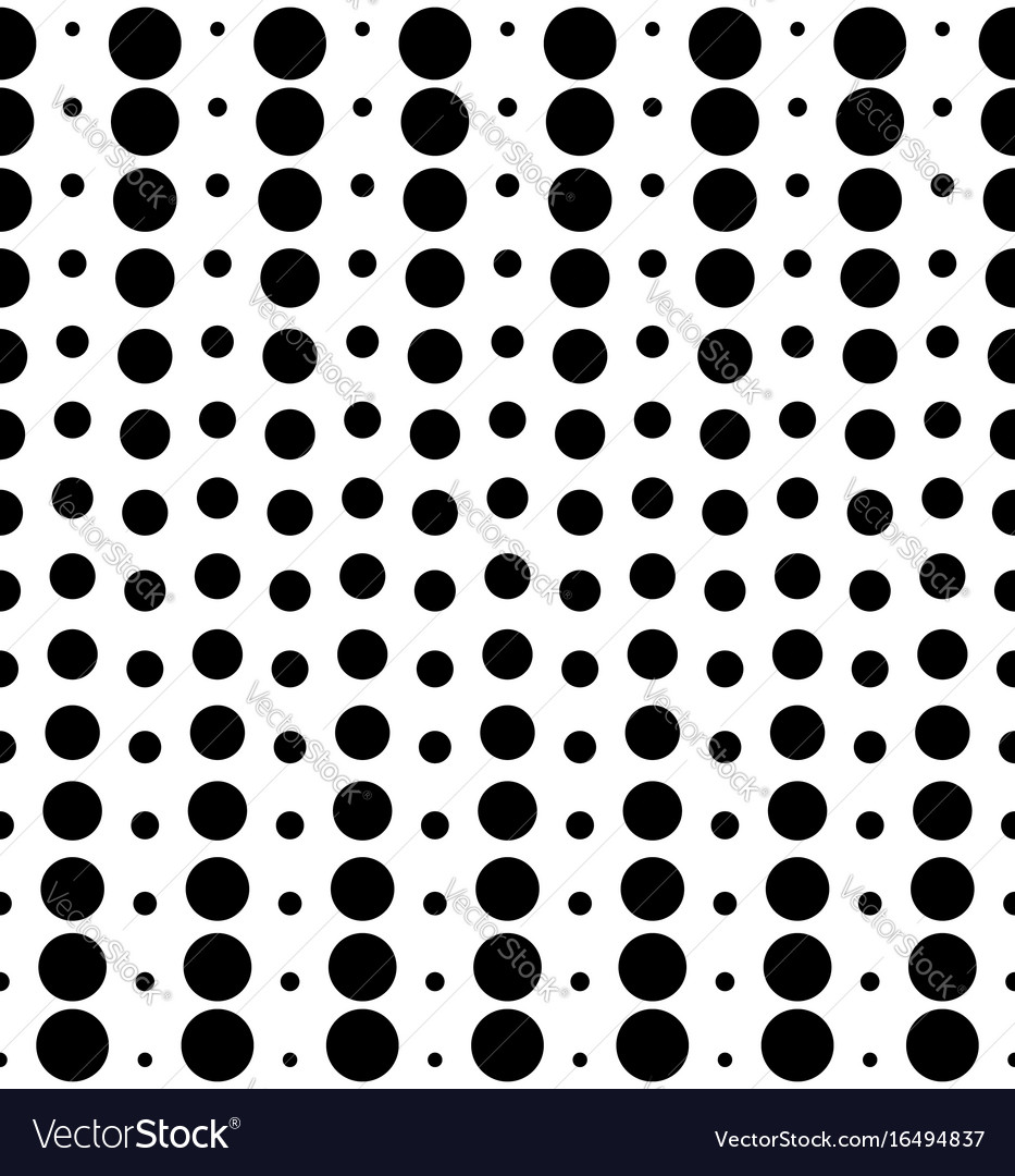 Seamless pattern different sized circles black vector image