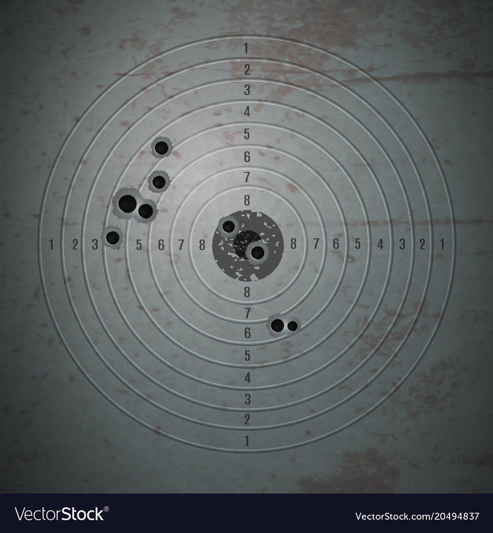 Shooting mark pinpoint composition vector image
