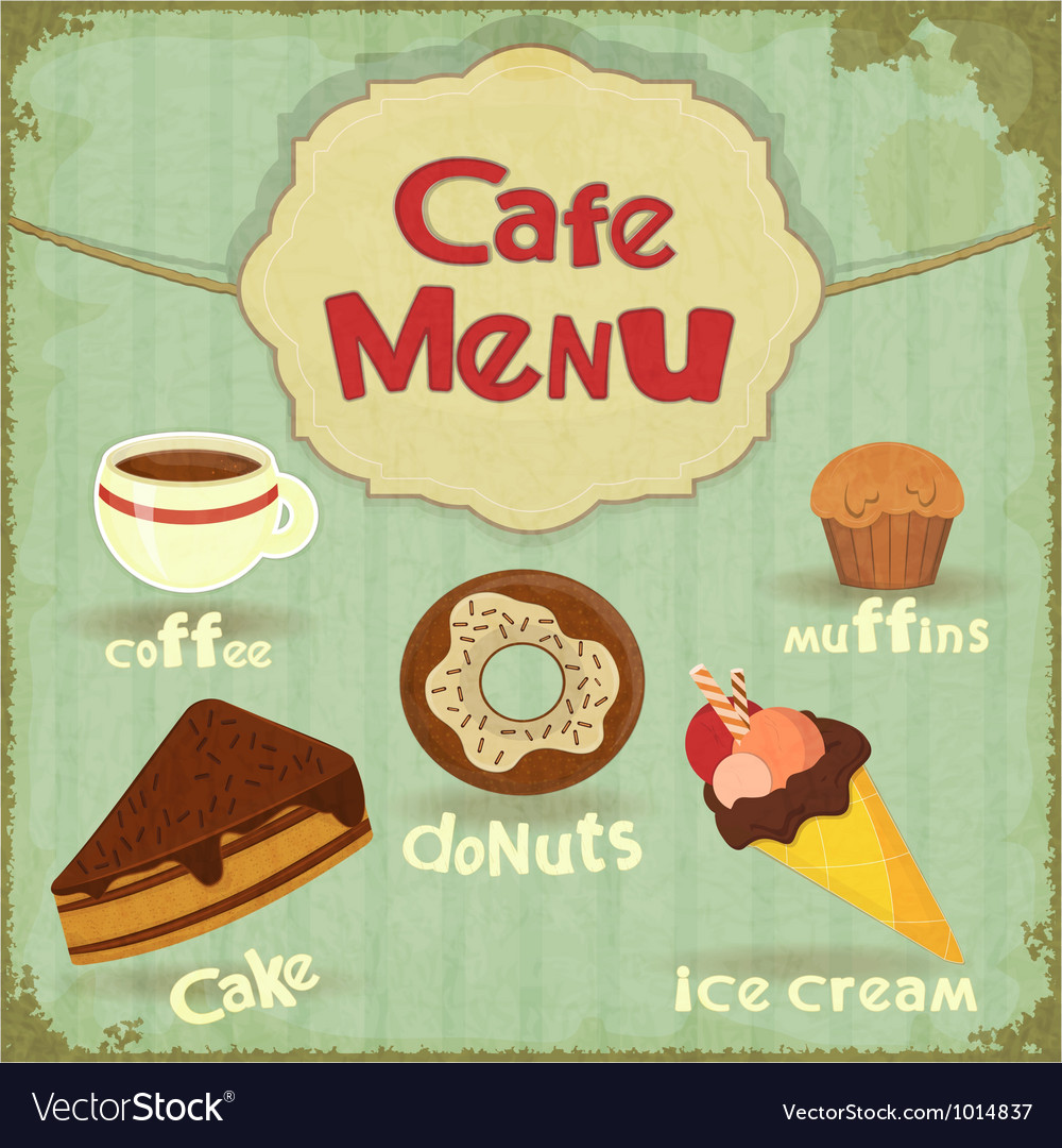 Vintage Cafe Menu