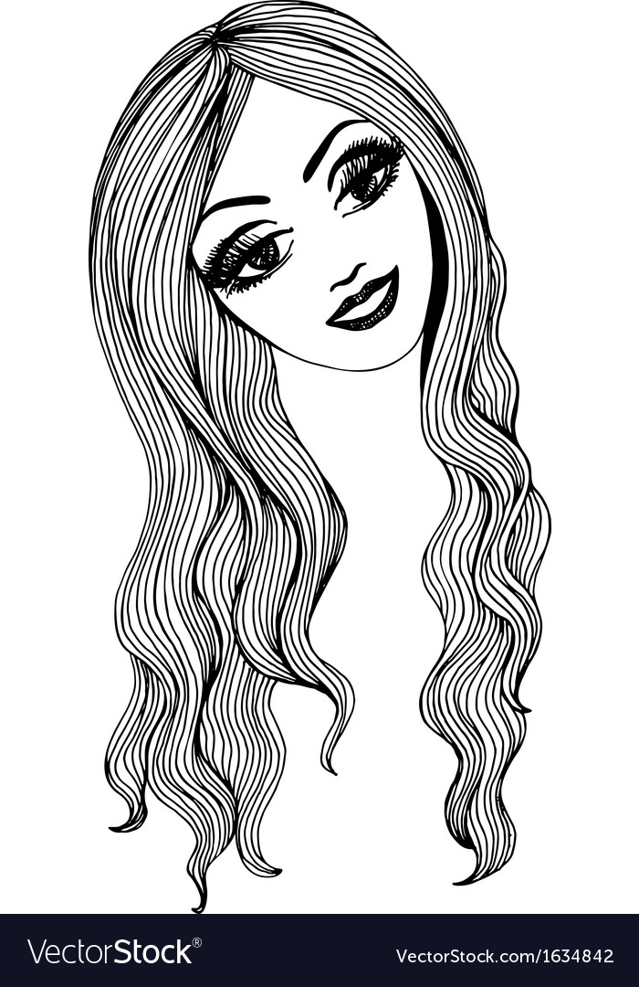Artistic sketch of a beautiful girl for You