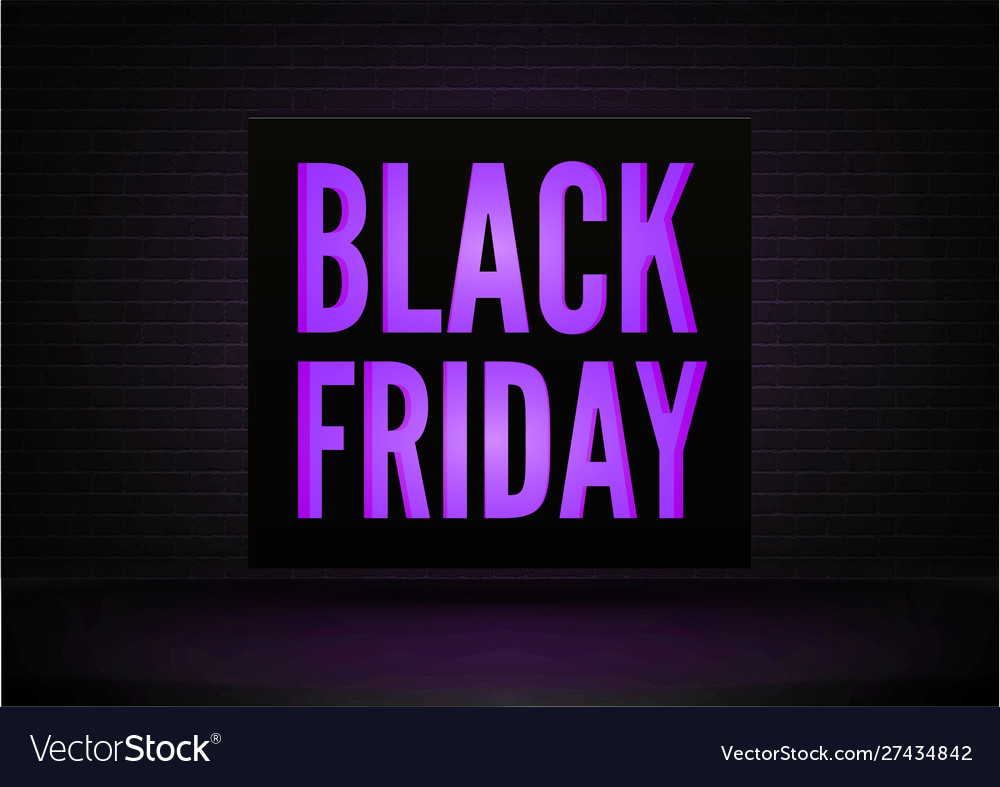 Black friday discounts realistic banner
