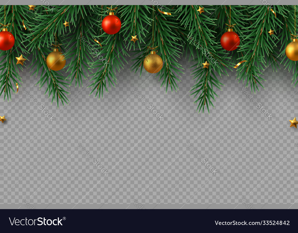 Christmas decoration with fir tree branches