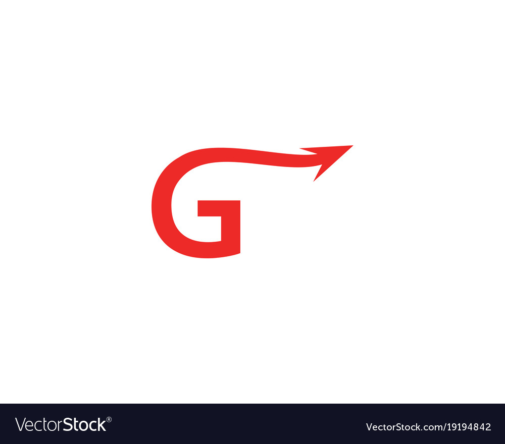 g letter arrow logo royalty free vector image vectorstock