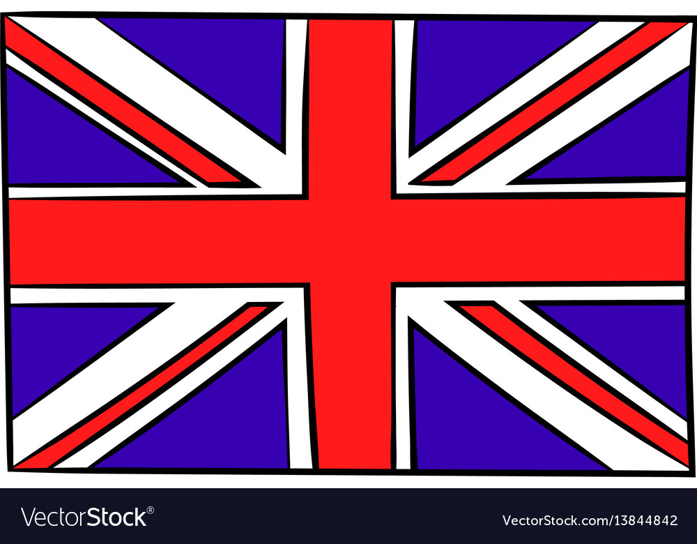 Great britain flag icon cartoon