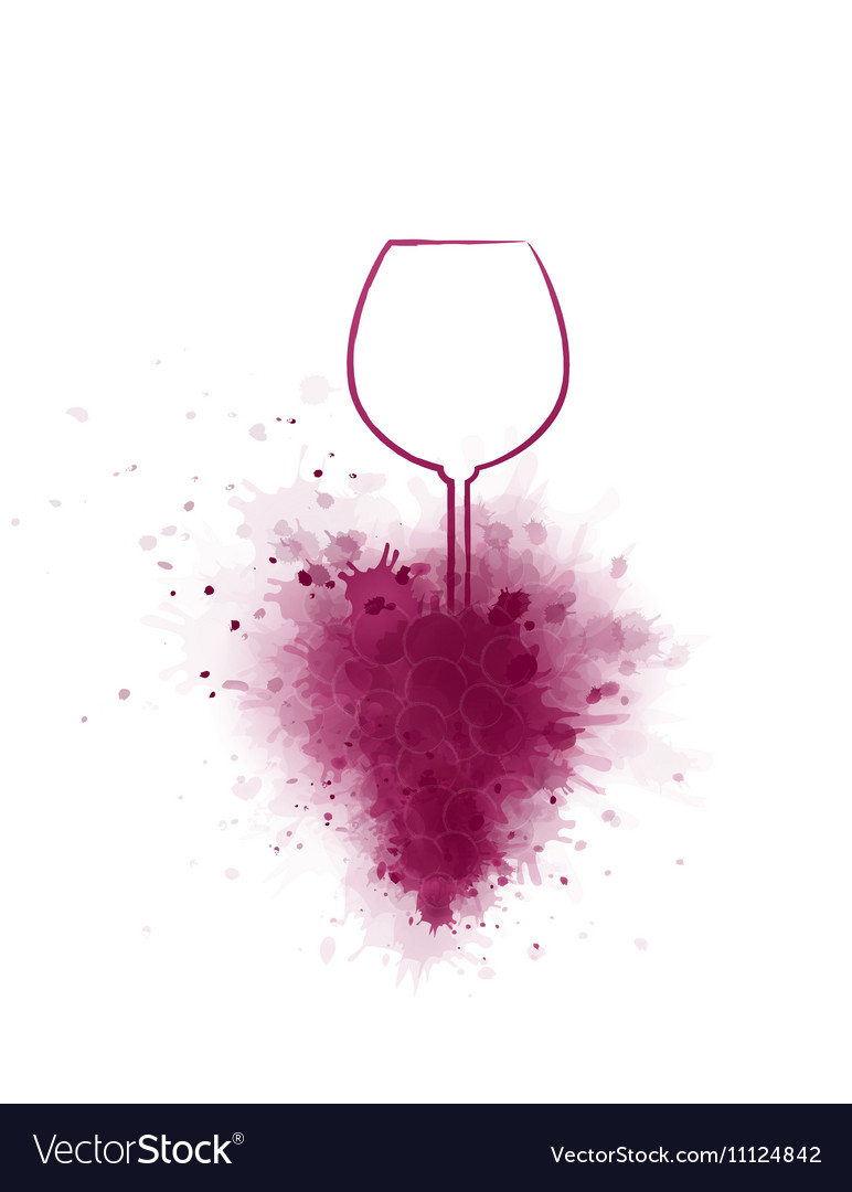 Hand Drawing Wine Glass And Grapes Royalty Free Vector Image