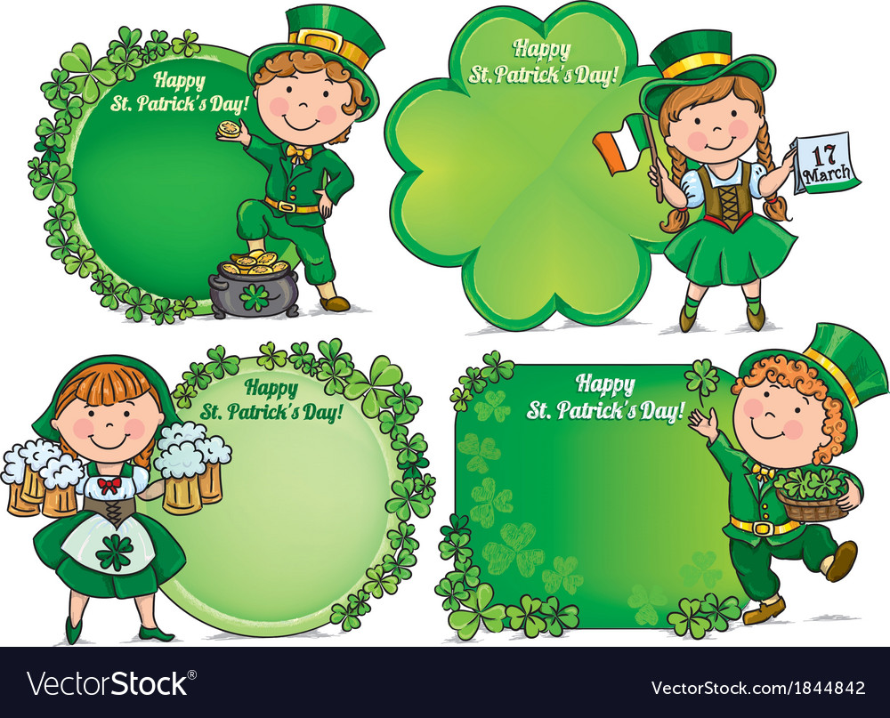 Happy St Patricks Day greeting banners