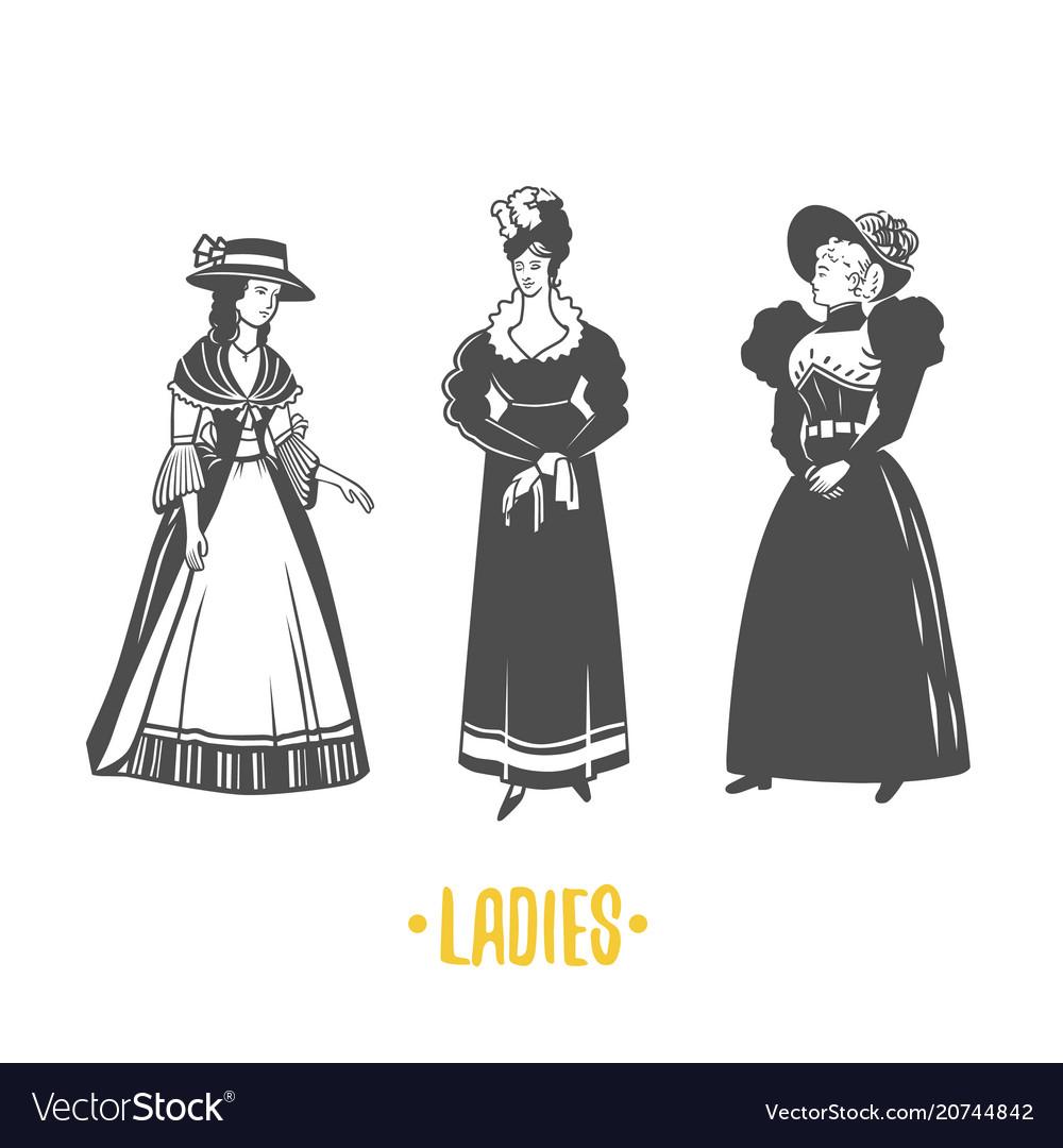 Lady old fashion
