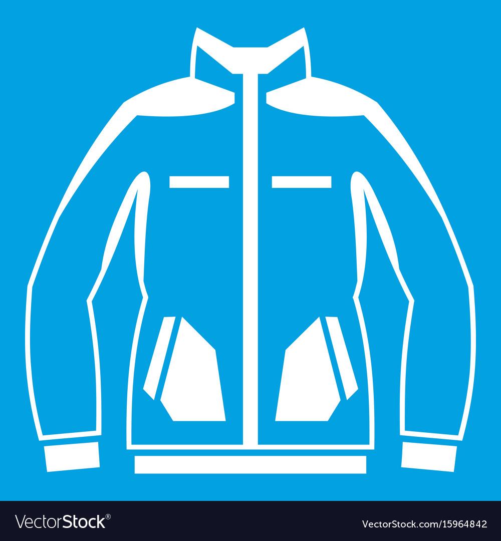 Men winter jacket icon white