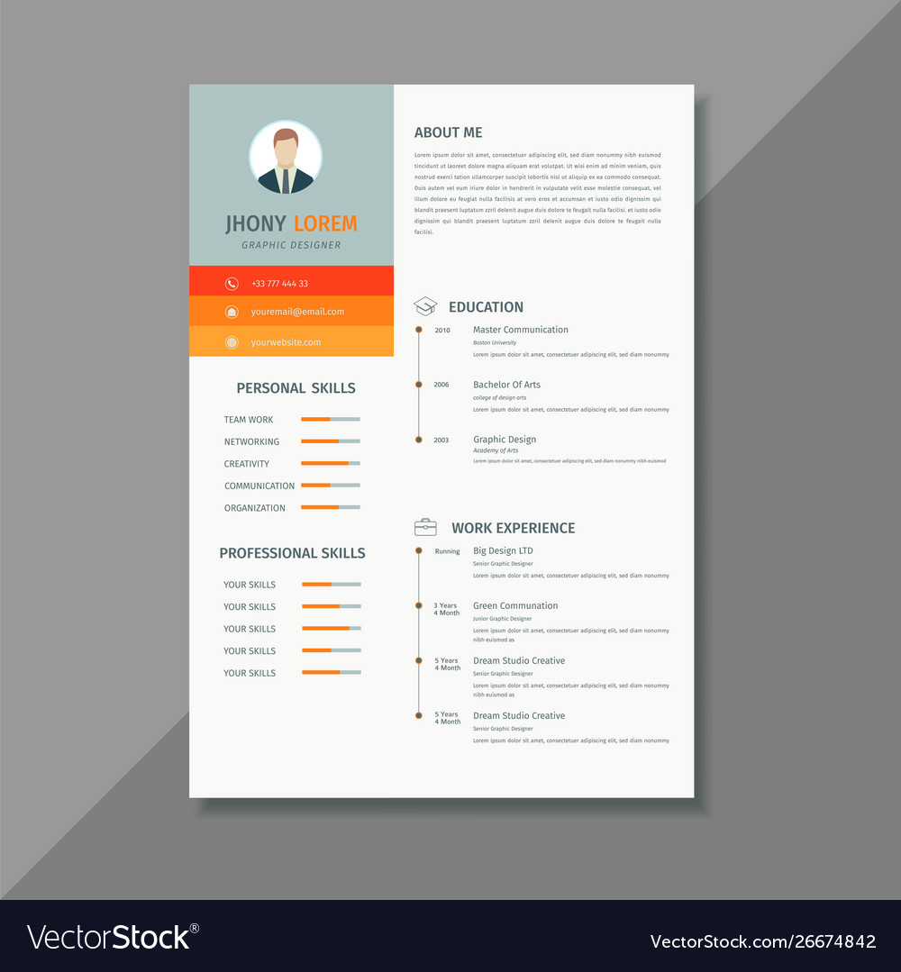 Minimalist Design Resume Template