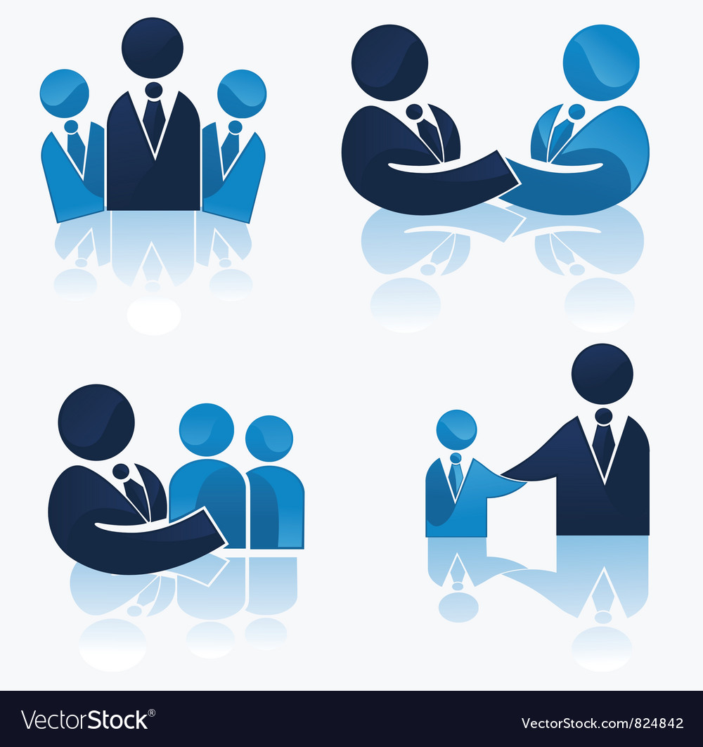 Office team and successful business vector image