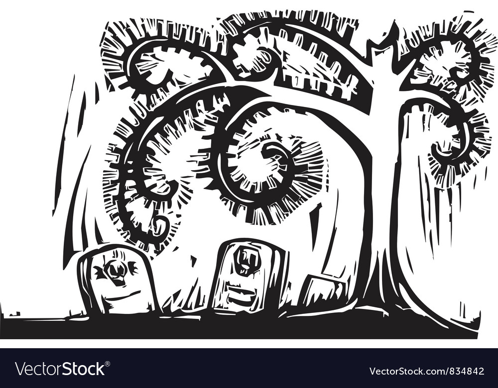 Spiral Tree Grave vector image