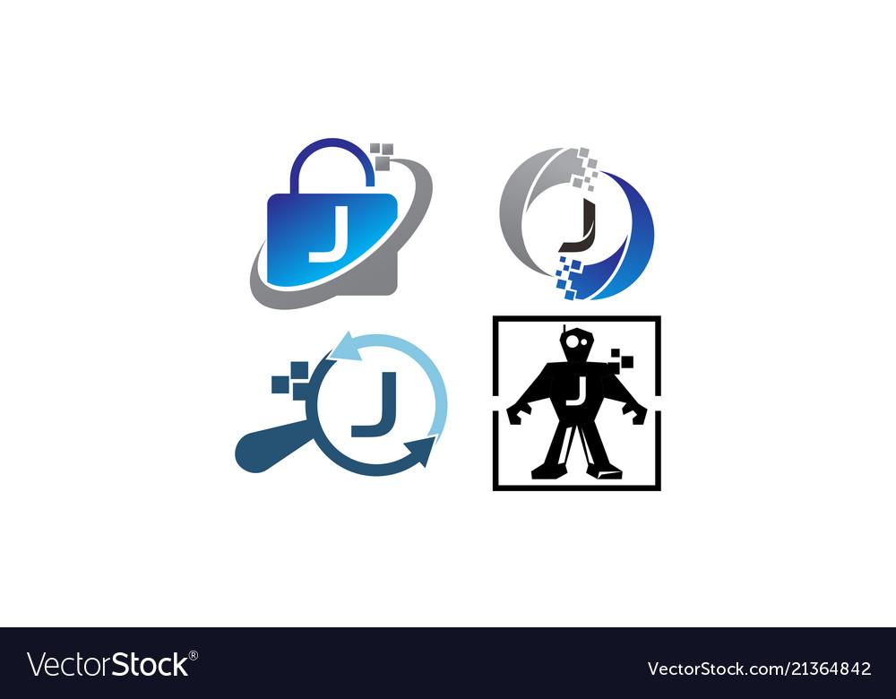 Technology application j template set