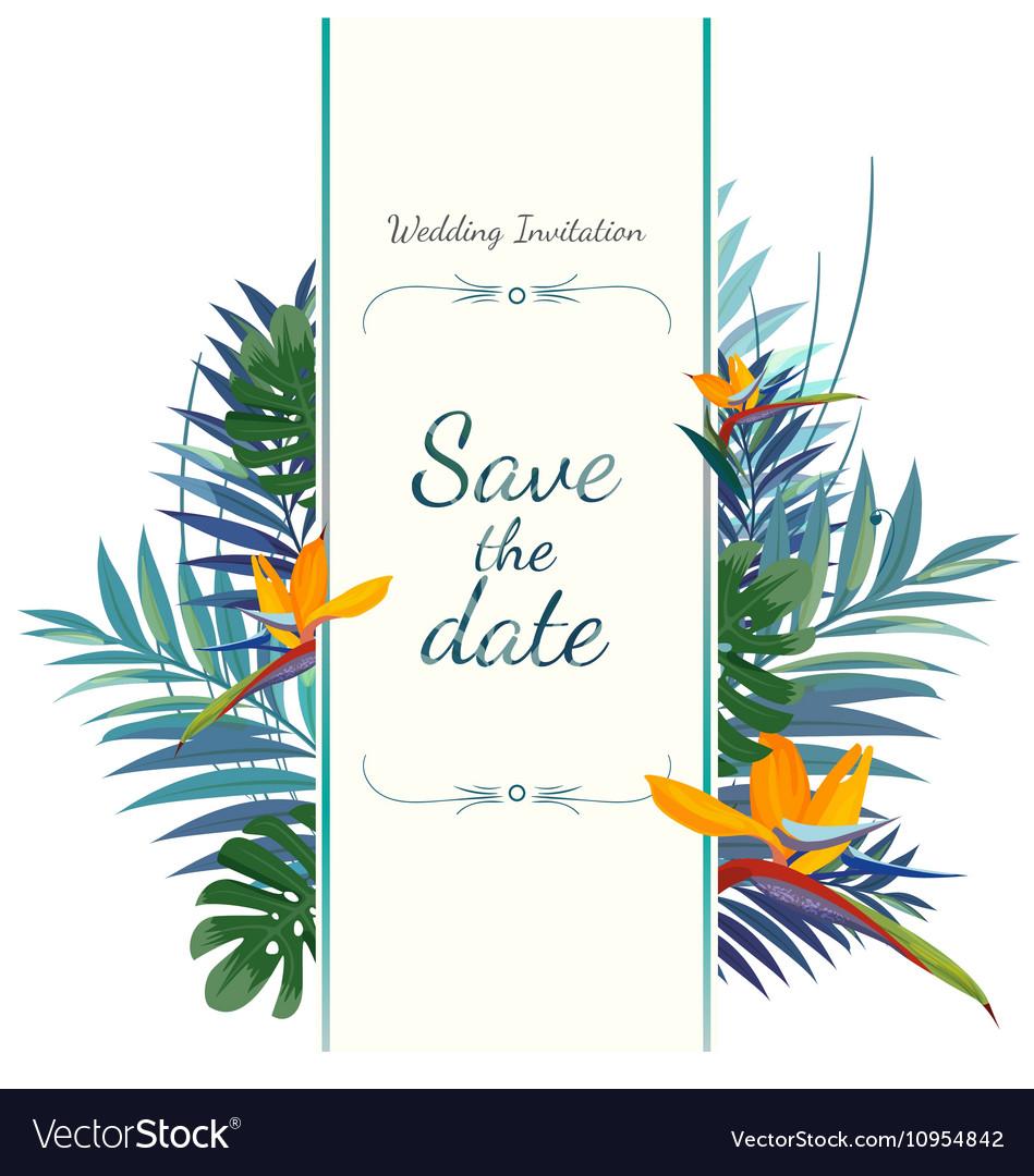 Wedding invitation card Save the date