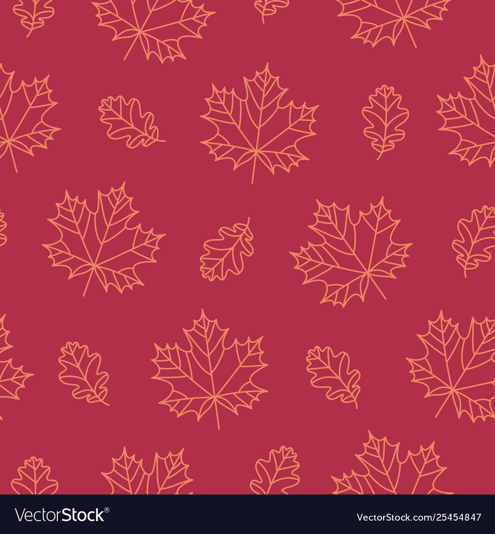 Autumn seamless pattern background with fall