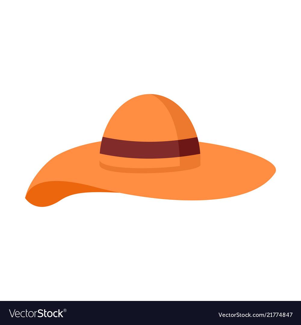 Big floppy hat summer stuff graphic design