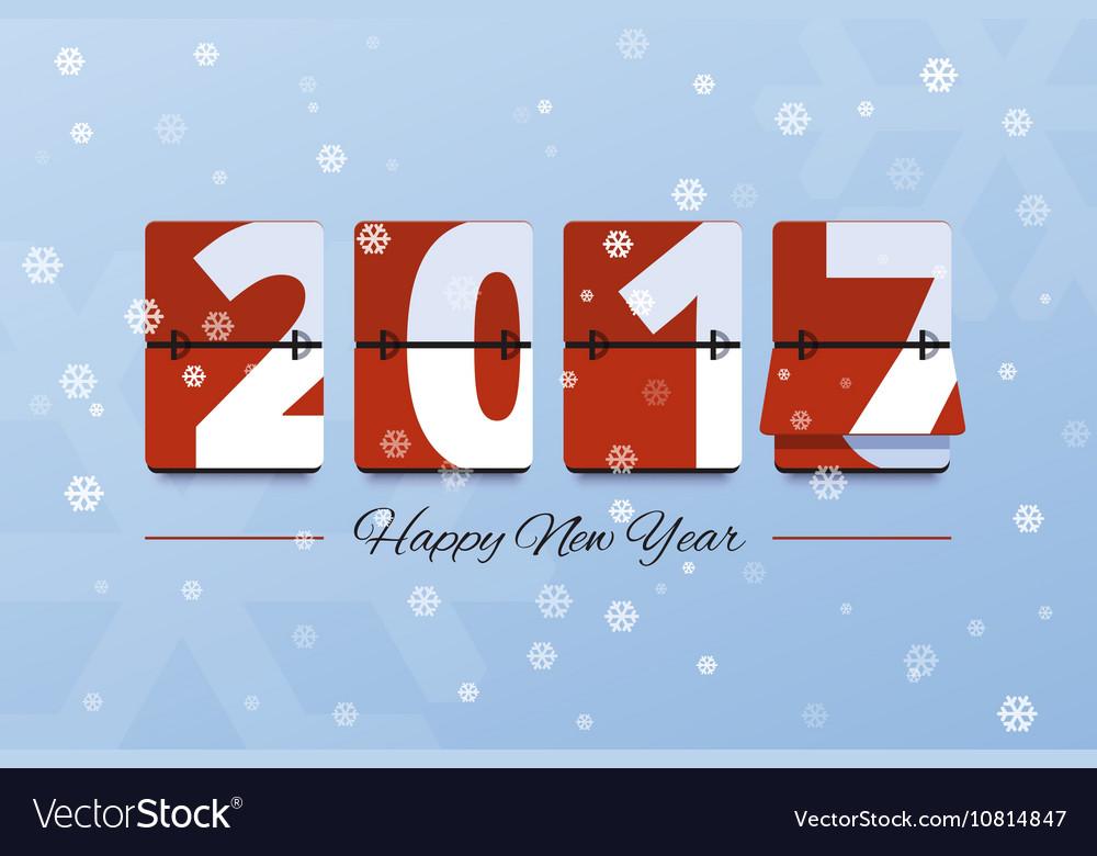 Happy new year 2017 scoreboard