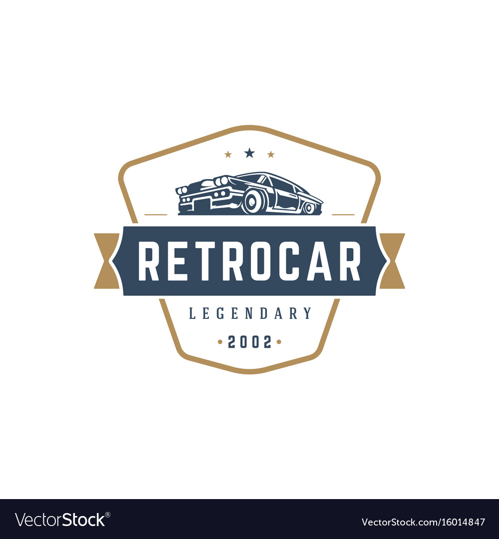 Hot rod car logo template design element