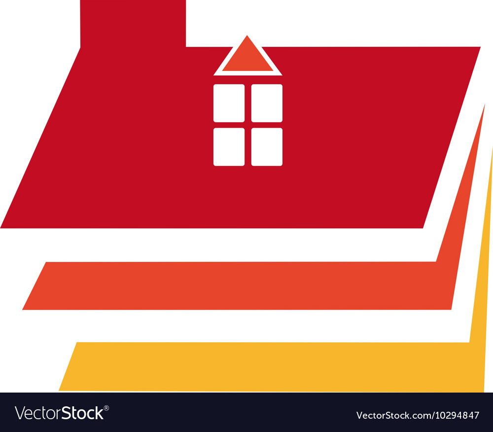 House logo design template Home
