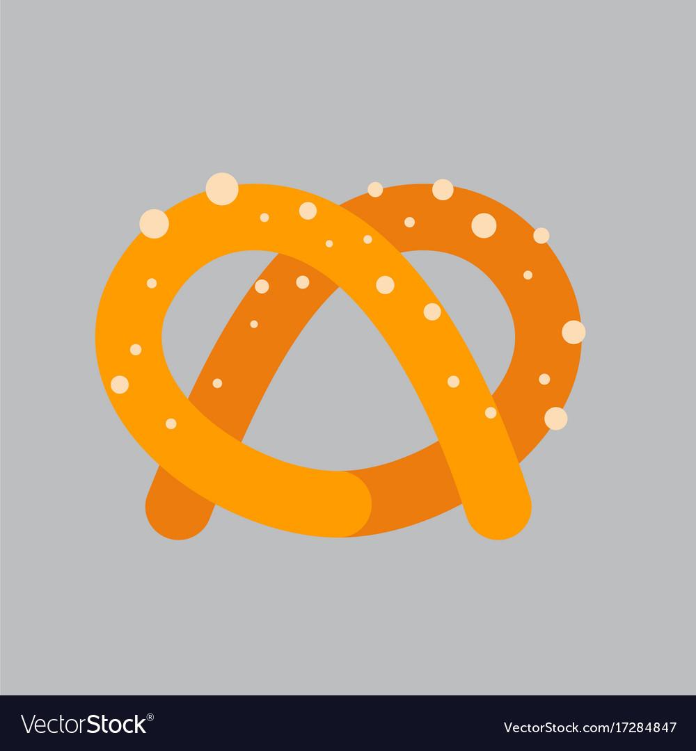 pretzel icon oktoberfest festival concept vector image