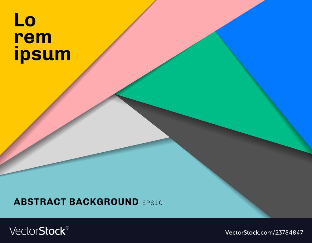 Template geometric triangles multicolor paper cut