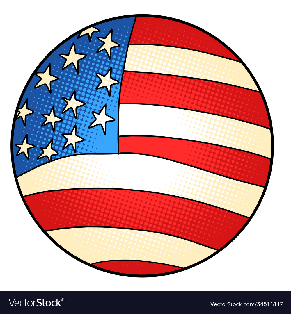 Usa flag star-striped state symbol america