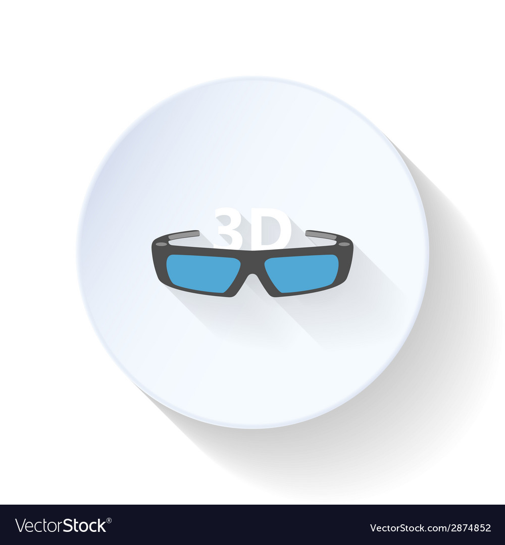 3D glass flat icon