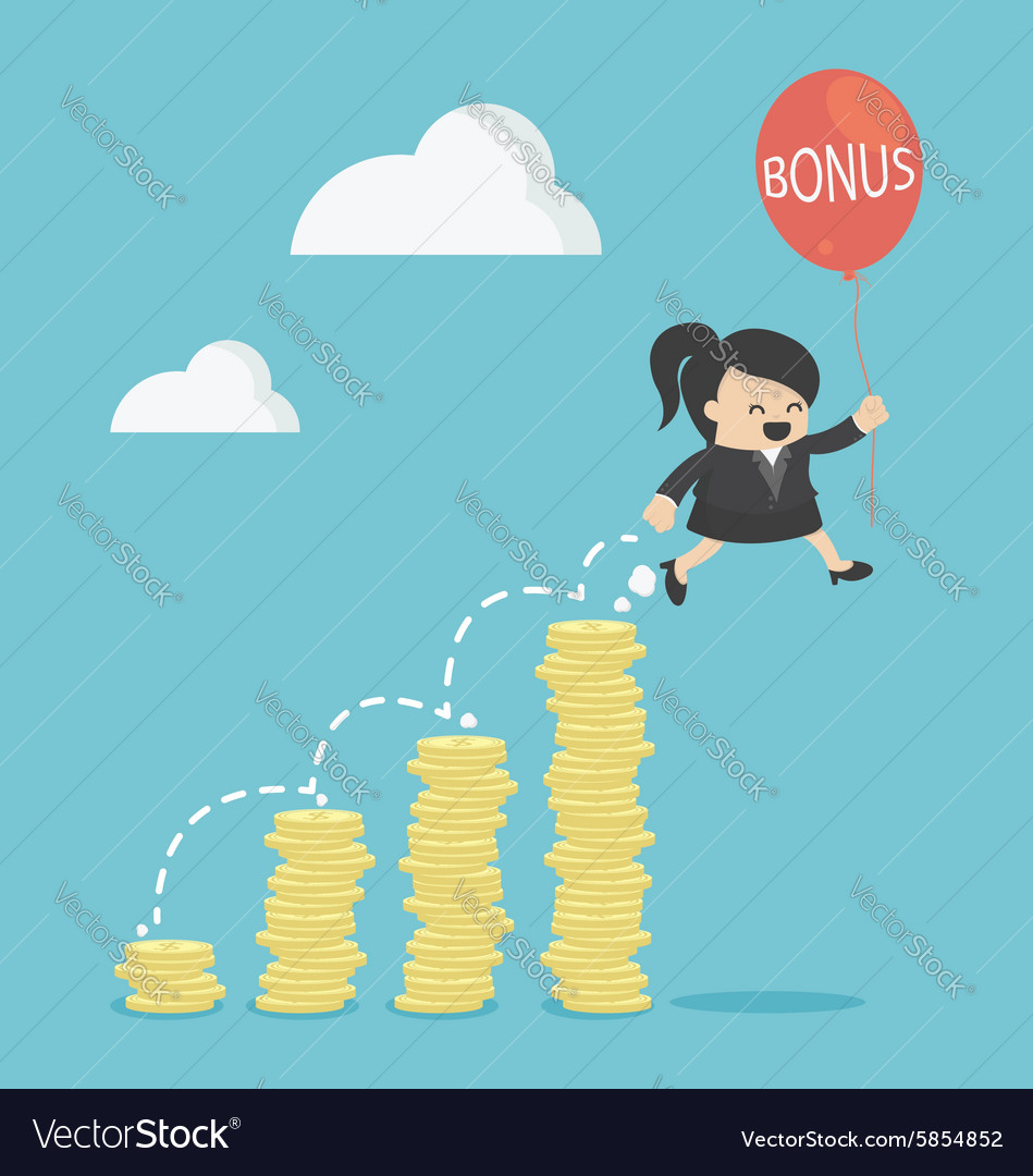 Bonus of Business Woman vector image