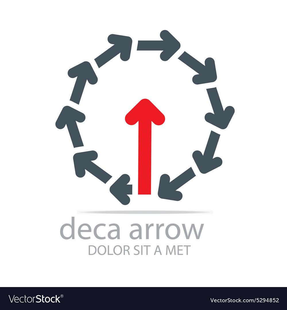 Deca arrow design element symbol icon vector image