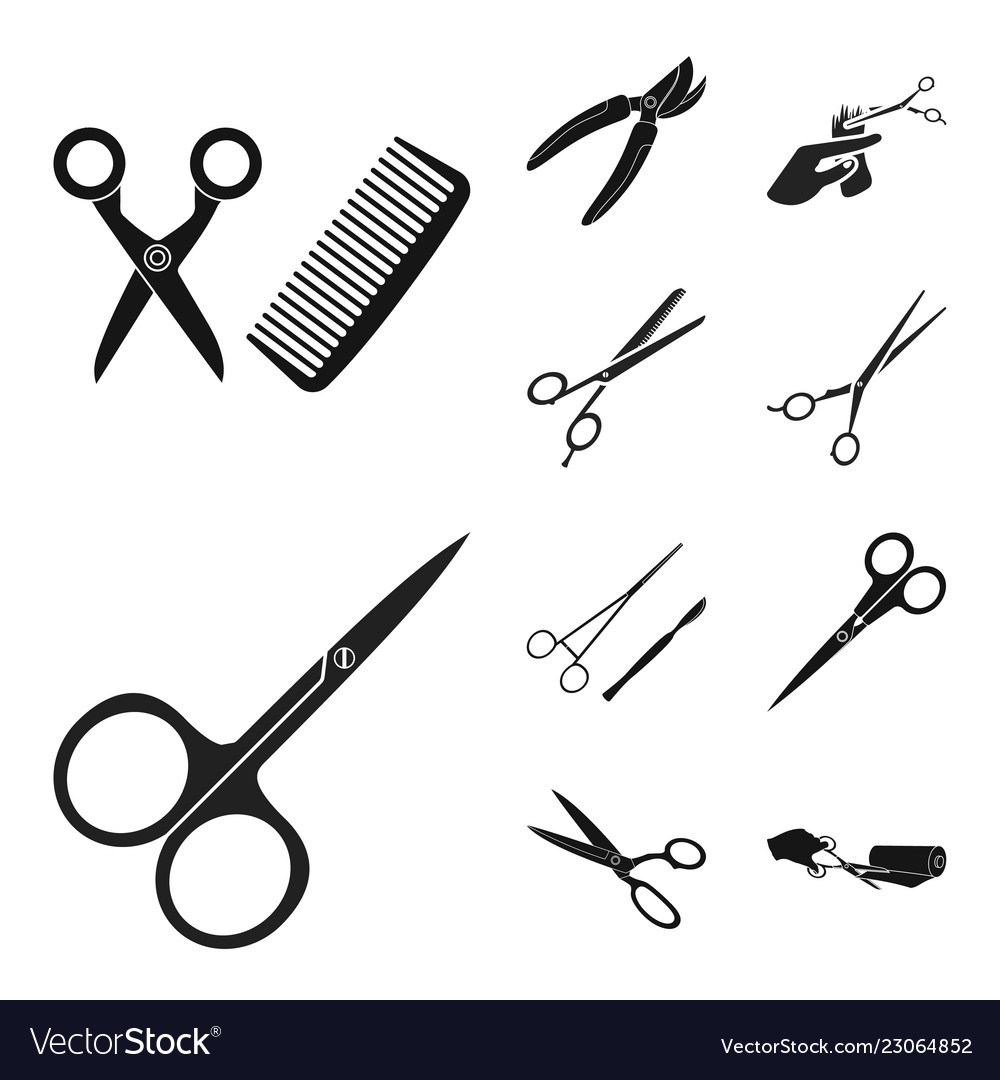 Design Of Scissor And Craft Symbo Royalty Free Vector Image