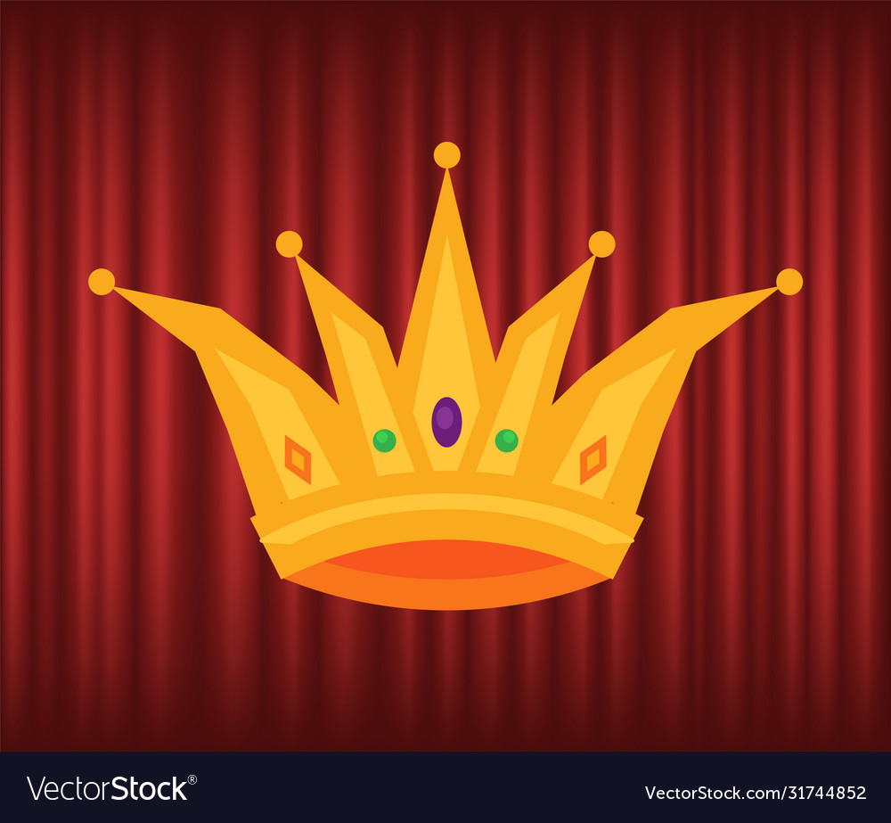 Golden corona crown with gems jewelry