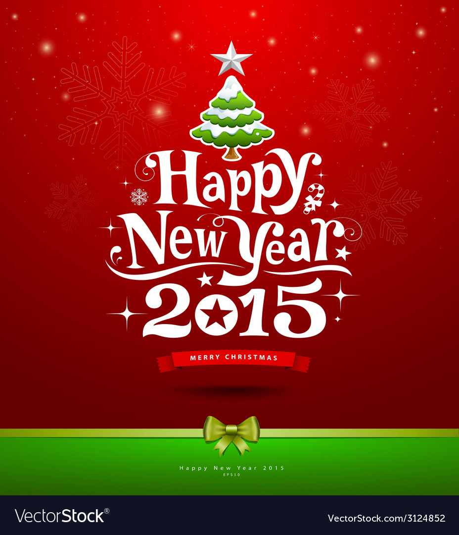 Happy new year 2015 text design background