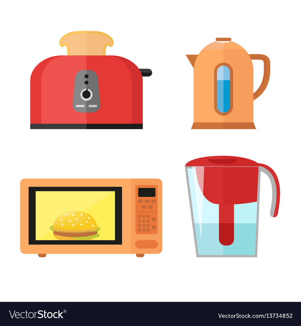 Kitchen equipment set isolated on a white