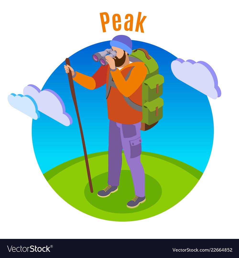 Outdoor peaks hiking background