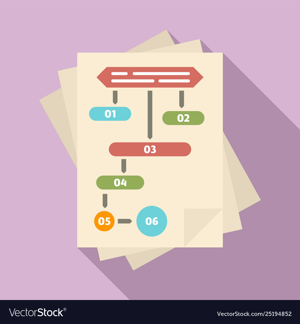 Paper workflow icon flat style
