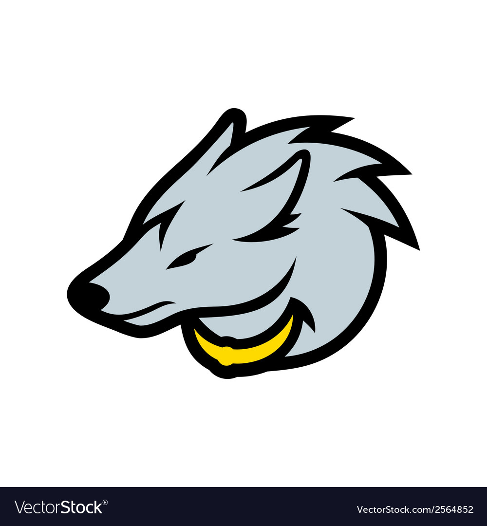 Wolf head sign vector image
