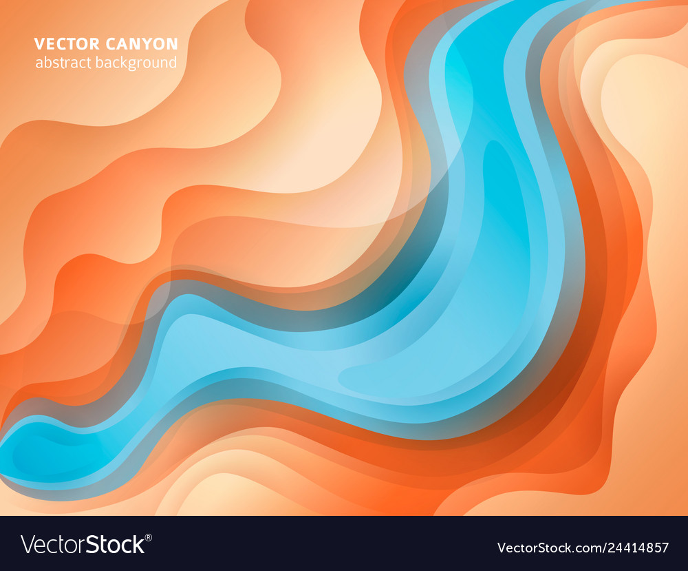 Abstract Warm And Cool Colours Paper Poster